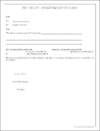 Assignment Form Free Simple Notice Of Assignment Of Lease From Formville