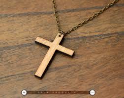 Best Cross - wood cross necklace etsy