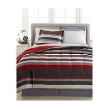 Red And Grey Comforter Sets Boys Rugby Stripe Comforters