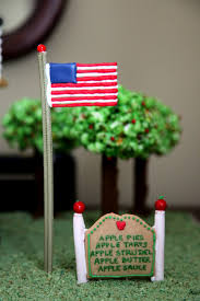 American House Flag Gingerbread Farm House