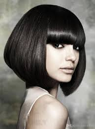 cheap gorgeous hair styles bob short silky straight natural black