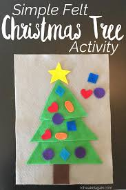 christmas tree shape activity made from felt to be a kid again