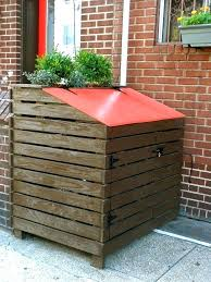 Free Wooden Garbage Box Plans by Garbage Can Storage Shed Wood Storage Sheds For Garbage Bins