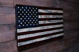 wooden flag wall american flag veteran made wood flag