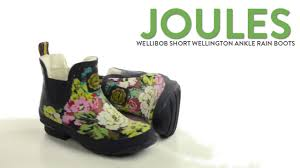 womens boots joules joules wellibob wellington ankle boots waterproof