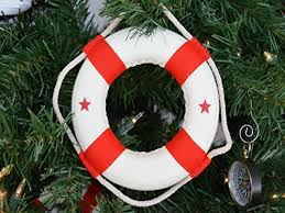 excellent lifering nautical themed tree ornament