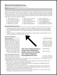 achievements in resume examples