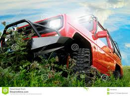 daihatsu rocky offroad off road red car stock photo image 43438235