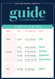 what size tablecloth for 48 round table the remodelaholic guide to dining table sizes seating tablecloth