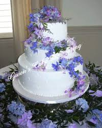 weding cakes white wedding cake with purple flowers jpg