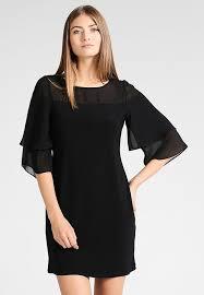 wallis flute sleeve sheer neck dress jersey dress black