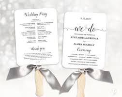 cheap wedding program fan wedding program etsy