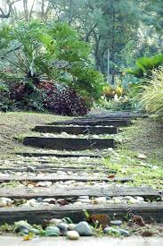 railroad tie stairs and steps
