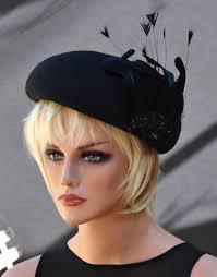 funeral hat black hat winter wedding hat derby hat cocktail hat fascinator