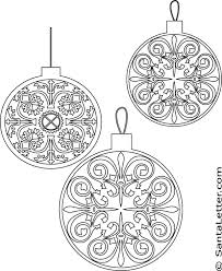 ornaments coloring pages at santaletter