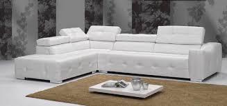 canapé d angle blanc cuir canapé d angle en cuir vachette blanc sofamobili