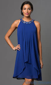 short royal blue pleated shift dress royal blue party dress