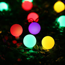 solar powered christmas lights luckled globe solar powered string lights 21ft 50 led outdoor