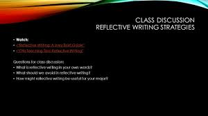Reflective Writing Sample Essay Today U0027s Goals Introduce Major Essay 1 Write To Reflect Review