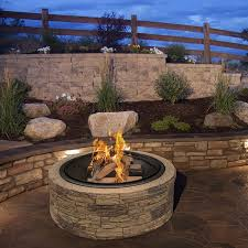 round cast stone fire pit free shipping today overstock com