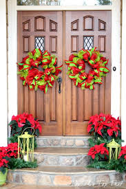 Best Christmas Decorations For Outside by 50 Best Christmas Door Decorations For 2017
