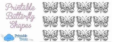 printable butterfly shapes u2014 printable treats com