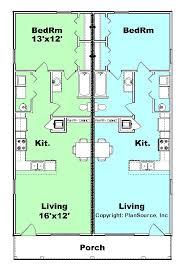duplex plan j0929 11d plansource inc