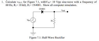 calculate vout for figure 7 1 withvin 10 vpp sine wave with