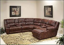 Leather And Microfiber Sectional Leather Sectional Sofa With Recliners Tehranmix Decoration