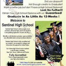 can you finish high school online sentinel high on need to finish high school not able to
