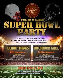 superbowl party at tender tickets tender restaurant new york