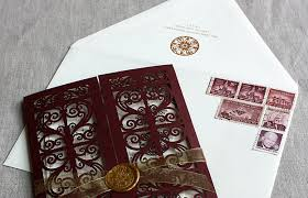 Scroll Invitations Diy Spanish Style Laser Cut Invitations