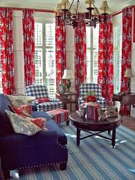 Best Patriotic Decor Images On Pinterest Blue Rooms Red - Red and blue living room decor