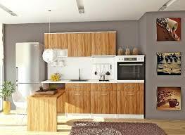 meuble cuisine promo cuisine en bois naturel cuisine bois brut blanc meuble moderne
