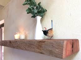 Floating Wooden Shelves by Floating Shelf Rustic Reclaimed Live Edge Floating Wood Shelves