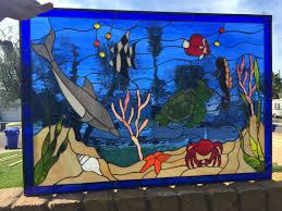 octagon stained glass window beach u0026 ocean archives stainedglasswindows com