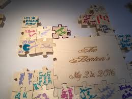 sweet 16 guest book puzzle wedding guest book thedjservice albany ny