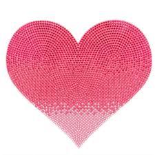 jumbo pink heart sticker rhinestone wall stickers stickerbeans rhinestone jumbo pink heart stickerbeans