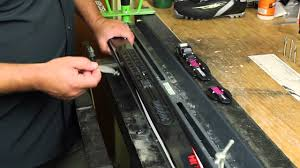 installing an nis cross country ski binding youtube