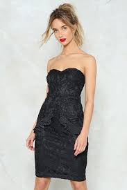dress to party your party trick lace strapless dress shop clothes at gal