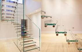 Glass Banister Staircase Glass Stairs And Glass Staircase Sillerstairs