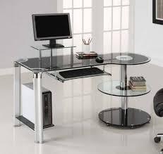 Glass Desk Modern Office Desk Modern Computer Desk Black Glass Computer Table