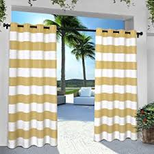 amazon com exclusive home curtains indoor outdoor solid cabana