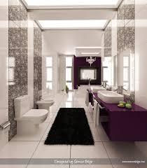 print bathroom ideas purple black and white graphic print bathroom interior design ideas