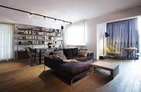industrial modern design open layout apartment in warsaw exhibiting fresh industrial design