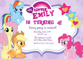 my pony birthday invitations marialonghi
