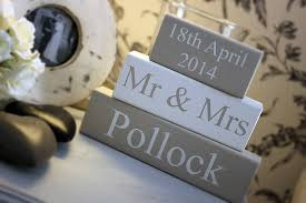 mr mrs sign for wedding table mr mrs wedding blocks personalised by hush baby sleeping