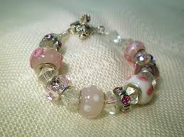 pandora style bead bracelet images Pandora style glass bead and crystal bracelet video tutorial jpg
