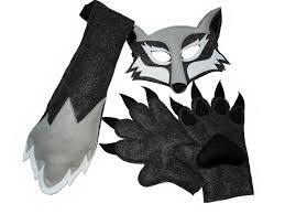 Childrens Animal Halloween Costumes by Children U0027s Woodland Animal Halloween Wolf Felt Costume Set