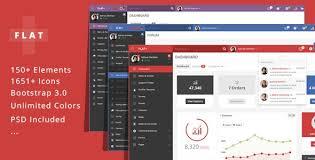 flat plus v1 2 3 u2013 web app admin panel template free download